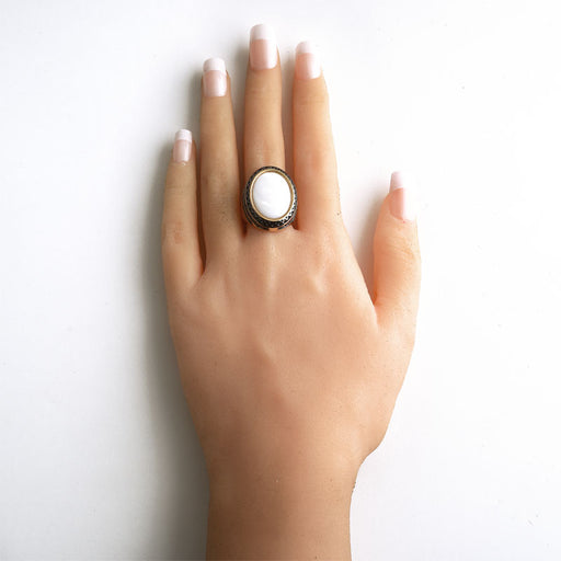 Iriri Mother of Pearl Statement Ring