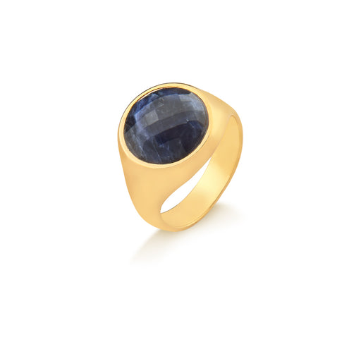 Arinos Gold Ring in Sodalite