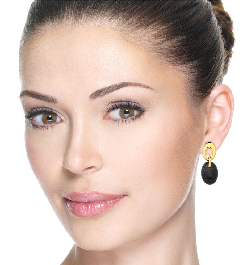 Vereda Gold Drop Earrings in Star Stone