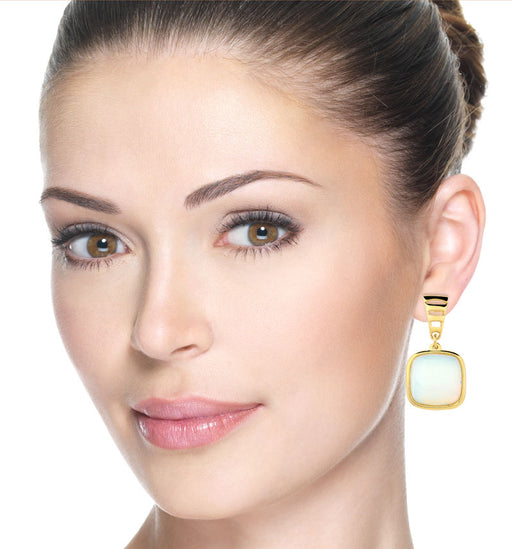 Miramar Gold Drop Earrings in Opalina