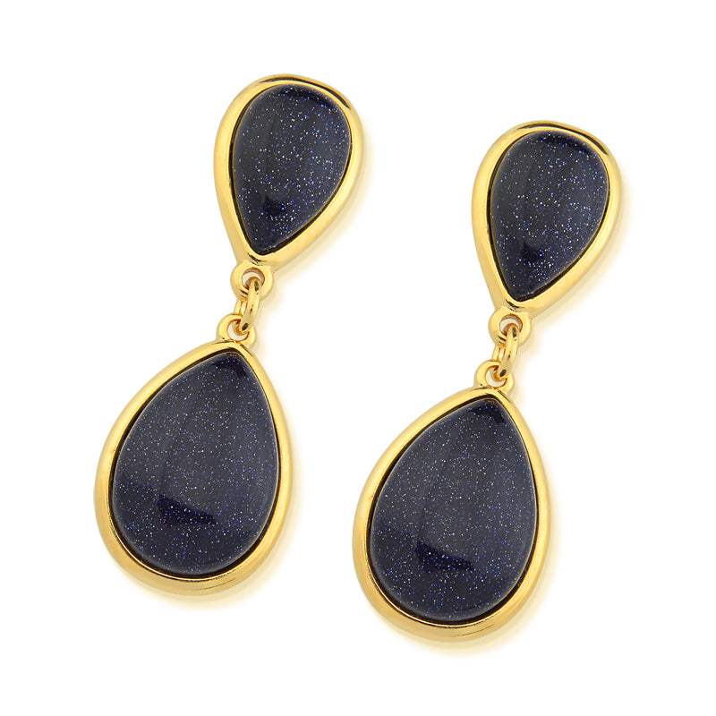 Lagoa Gold Drop Earrings in Star Stone