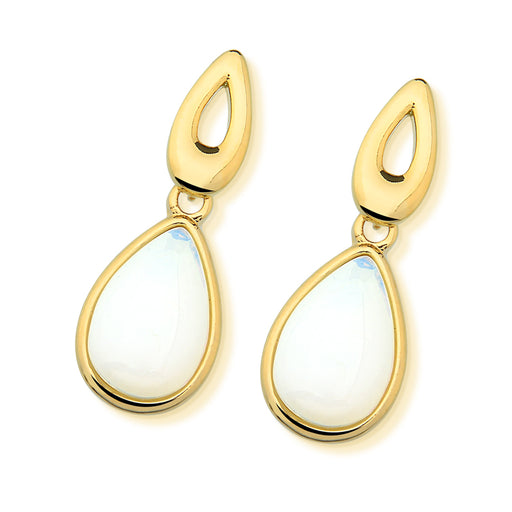 Lapa Gold Drop Earrings in Opalina