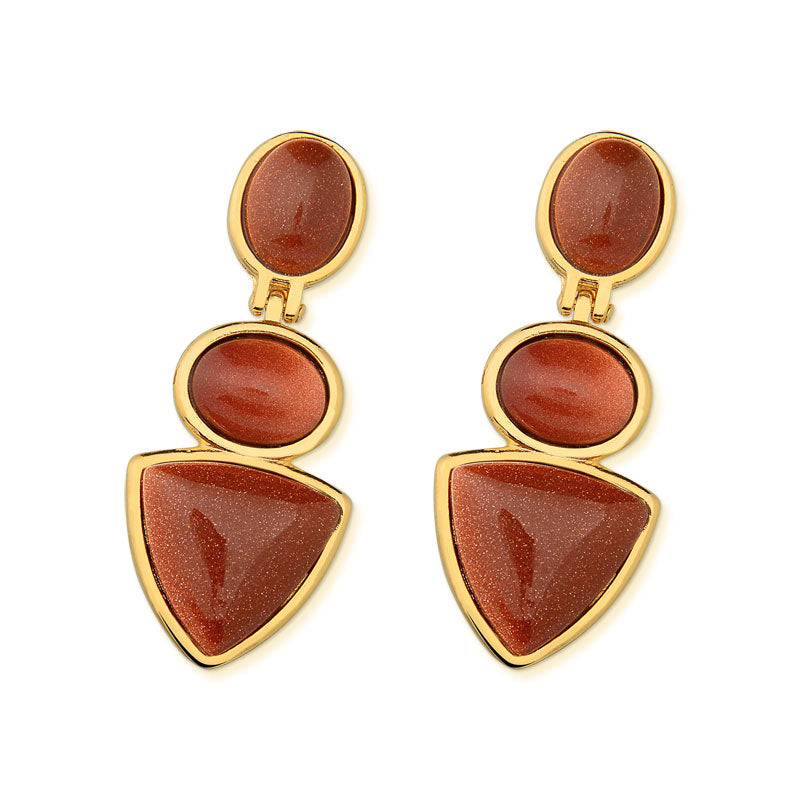 Coreau Drop Earrings in Sunstone