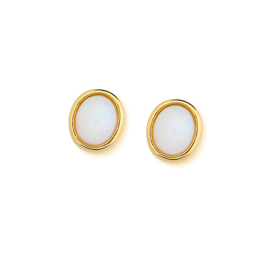 Salinas Gold Stud Earrings in Opalina
