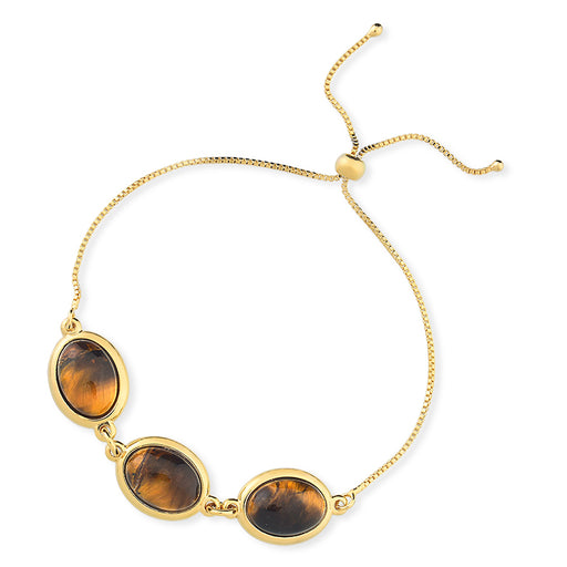 Tacima Gold Chain Bracelet in Tigers Eye