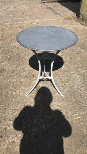 Round Zinc Topped Garden Table French