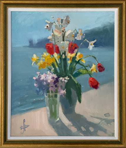 Russian Contemporary Oil Painting Hanna Davidchenko Seaside Still Life 2018