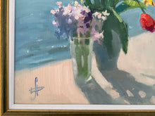 Load image into Gallery viewer, Russian Contemporary Oil Painting Hanna Davidchenko Seaside Still Life 2018