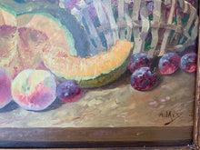 Load image into Gallery viewer, French Antique Oil Painting Still Life Fruit A.Mery 1885