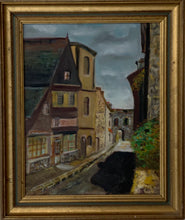 Load image into Gallery viewer, French Original Oil Painting In Frame Dated 1977