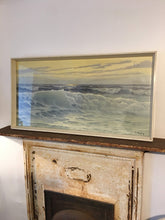 "Load image into Gallery viewer, Mid century print ""Waves"" Picture Original Frame"