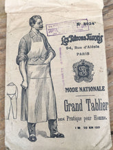 Load image into Gallery viewer, Delightful Antique French Sewing Pattern for Butchers Apron