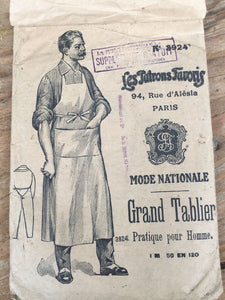 Delightful Antique French Sewing Pattern for Butchers Apron