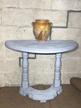 Load image into Gallery viewer, Pretty Painted Vintage Demi Lune Hall Console Side Table