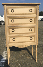 Load image into Gallery viewer, French Antique Chest Of Drawers. Original Paint. Marble Top. Very Pretty