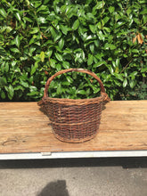 Load image into Gallery viewer, Unusual FRENCH Florist Flower Picking BASKET Vintage