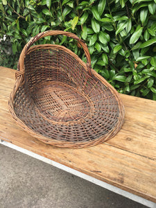 Unusual FRENCH Florist Flower Picking BASKET Vintage