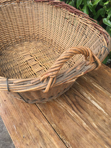 Huge French Vintage Laundry Basket - Nice Strong Condition