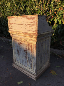 French Antique Shop Counter / Reception Desk - Original Paint