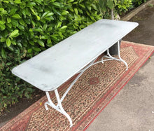 Load image into Gallery viewer, French Design Zinc Metal Garden Table 180cm/6ft seats 6-8