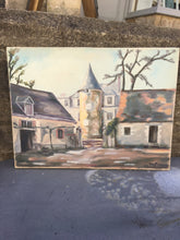 "Load image into Gallery viewer, French Original Painting ""Chateau"" Architectural Oil on Canvas - Signed & Dated"