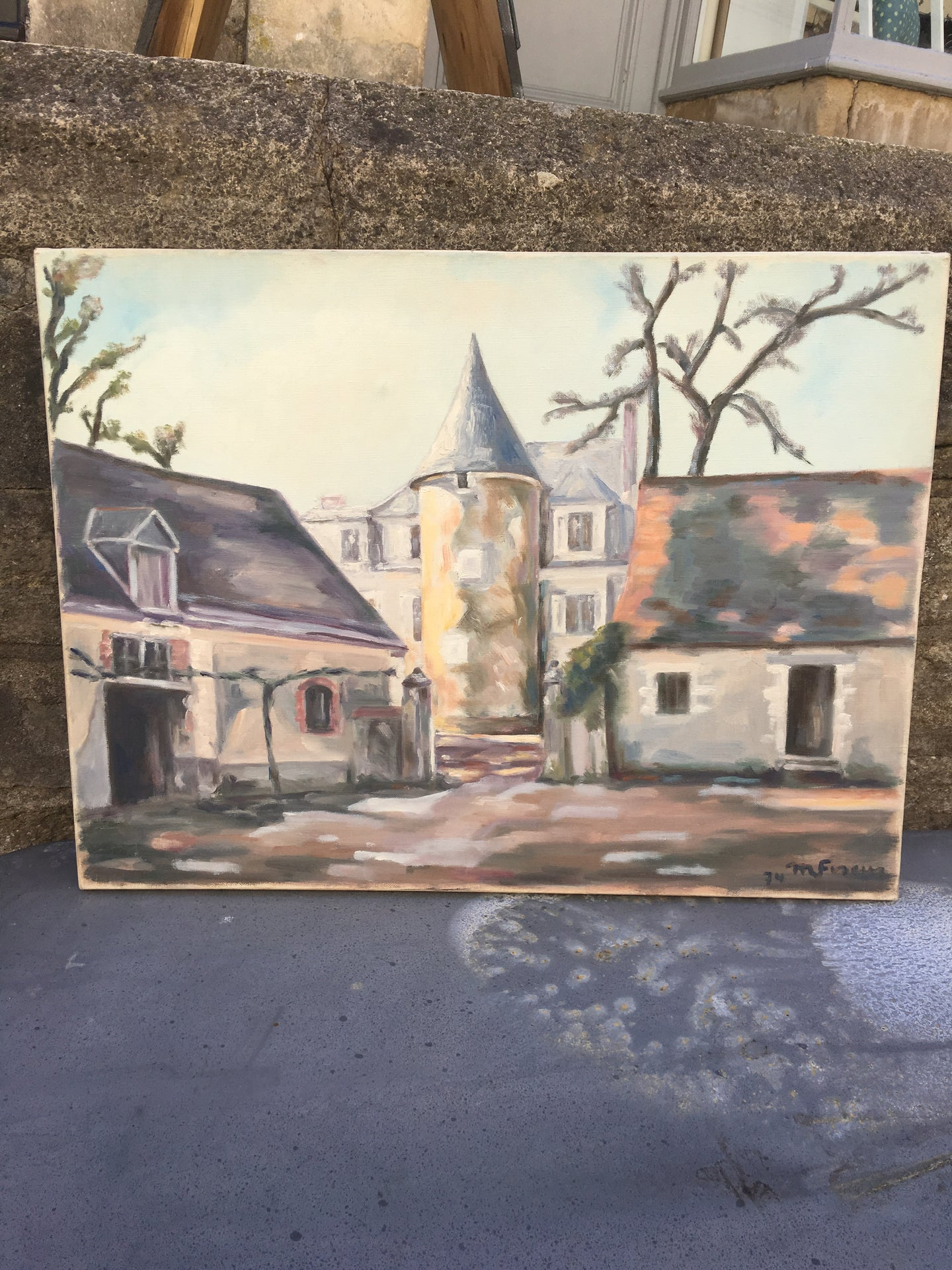 French Original Painting