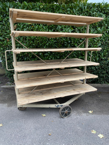 Vintage Industrial Pottery Rack...huge!