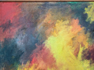 Statement Abstract Oil on Canvas - Valery WALKER - Midcentury Painting