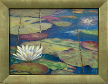 Load image into Gallery viewer, Simply Beautiful Original Oil Painting on Canvas 'Waterlily""