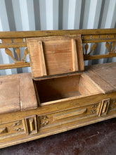 Load image into Gallery viewer, RARE Antique European Storage Bench Totally Original Condition