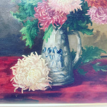 Load image into Gallery viewer, Chrysanthemums Oil on Canvas Dutch Antique Painting