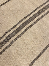 Load image into Gallery viewer, Antique Linen Grain Sack - Black Stripes