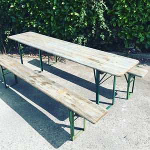 German Vintage Beer Table & Benches Garden SET