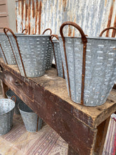 Load image into Gallery viewer, Vintage Galvanised Oyster Bucket