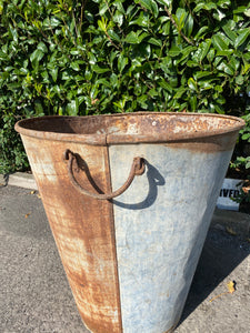 French Country Garden Zinc Olive Planters
