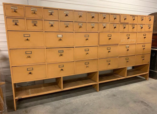 Vintage Bank of Drawers - 315cm long x 168cm tall
