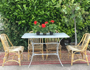 French Zinc Topped Rectangular Table