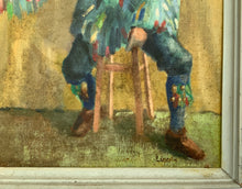 "Load image into Gallery viewer, ""Mummer"" Original Oil On Board Sign Jack LINCOLN Framed"