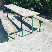 Load image into Gallery viewer, German Vintage Beer Table & Benches Garden SET