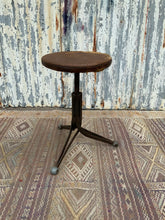 Load image into Gallery viewer, Unusual French Vintage Tripod Adjustable Metal Stool