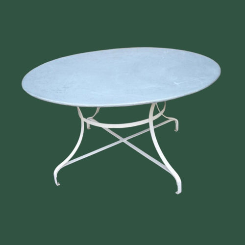 Large Round Zinc Top Garden Table