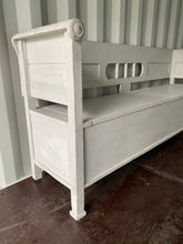 Load image into Gallery viewer, French Country Kitchen Storage Bench - Grey Painted