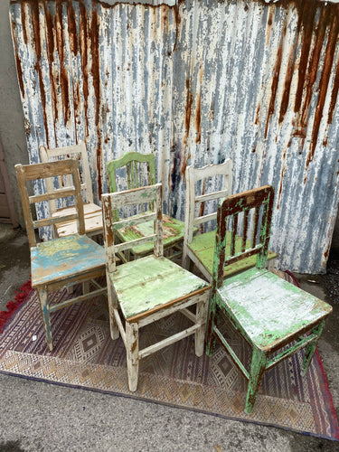 Antique Chippy Paint Chair
