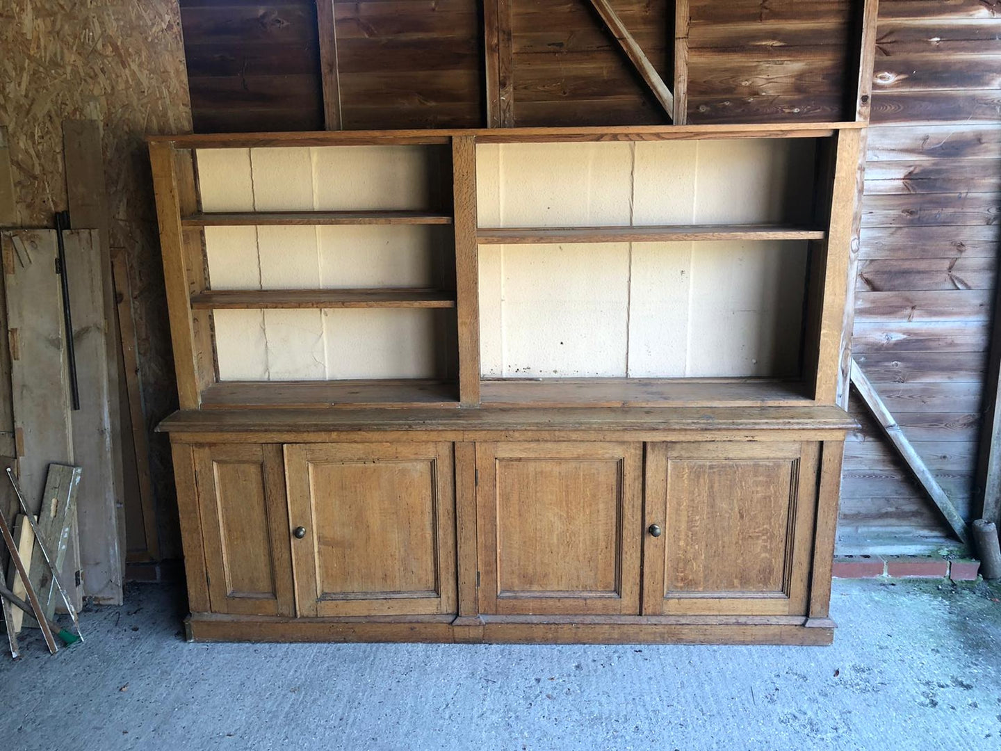 English Antique Victorian Oak Dresser - Fabulous English Country Cottage Antique