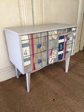Load image into Gallery viewer, Mid Century Beach Theme Chest of Drawers
