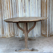 Load image into Gallery viewer, French Antique Wine Tasting Table Tilt Top