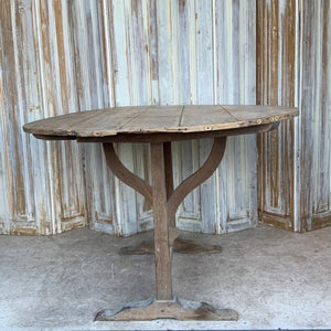 French Antique Wine Tasting Table Tilt Top