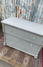 Load image into Gallery viewer, Antique European Painted Chest of Drawers Grey