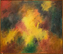 Load image into Gallery viewer, Statement Abstract Oil on Canvas - Valery WALKER - Midcentury Painting