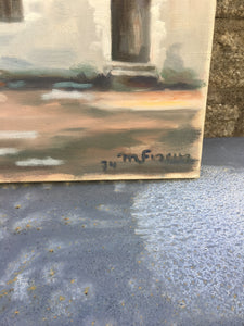 """Chateau"" Architectural Oil on Canvas - Signed & Dated"